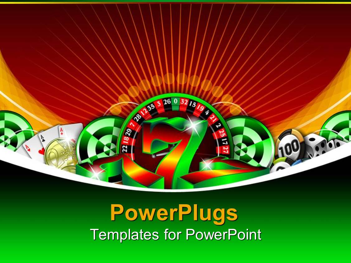 Free powerpoint templates 2529 html free ppt powerpoint templates - Powerplugs Powerpoint Template With Gambling Icons Casino Chips Lucky Number Seven