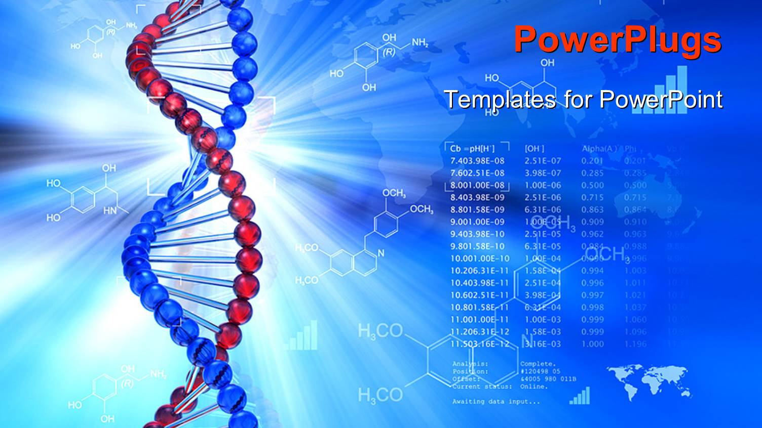 Genetic powerpoint templates crystalgraphics ppt enhanced with genetic dna symbol with chemical formulas in background template size toneelgroepblik Images