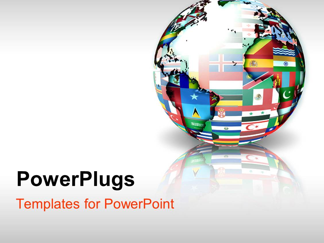 Powerpoint template globe with map and different country for Power plugs powerpoint templates