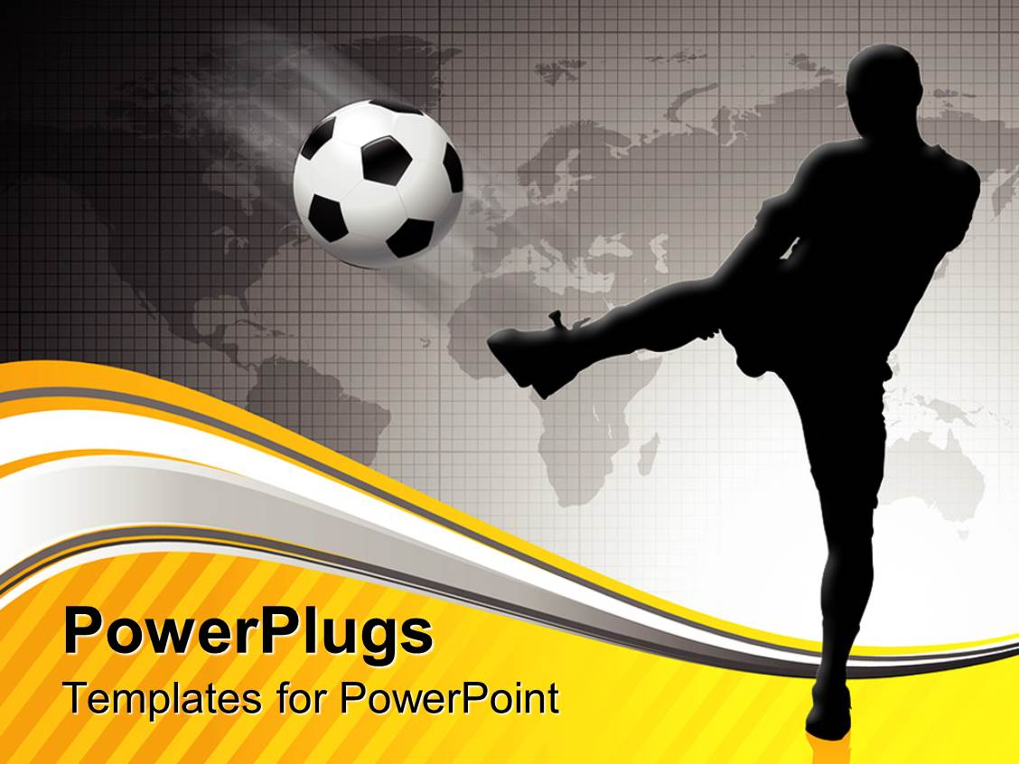 powerpoint template: goals in life archive success soccer athlete, Powerpoint templates