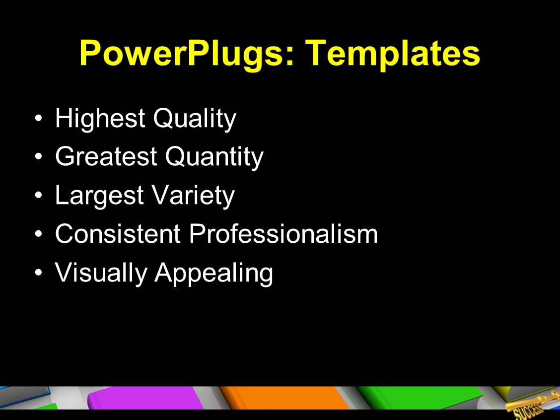 powerpoint template golden success key 3d text knowledge ppt template services business marketing text slide