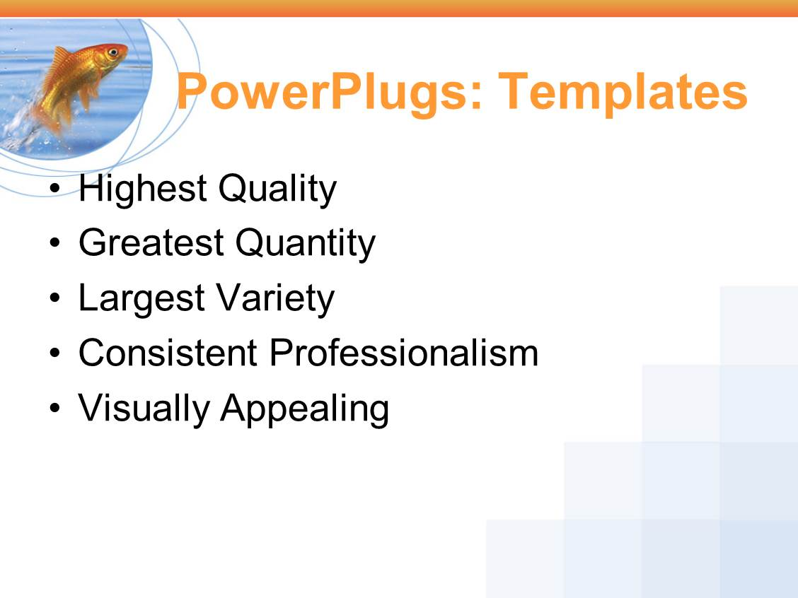 powerpoint template goldfish jumping out of the water powerpoint template services business marketing print slide