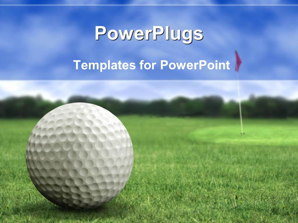 golf course powerpoint templates | crystalgraphics, Modern powerpoint