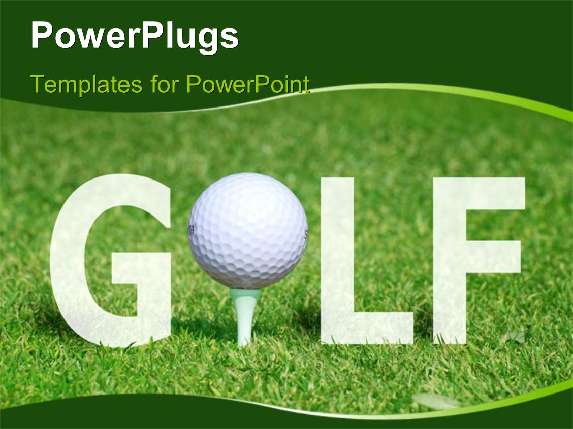 golf powerpoint templates | crystalgraphics, Modern powerpoint