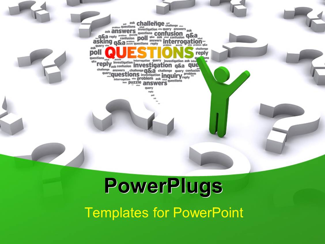 question and answer powerpoint template images - templates example, Modern powerpoint