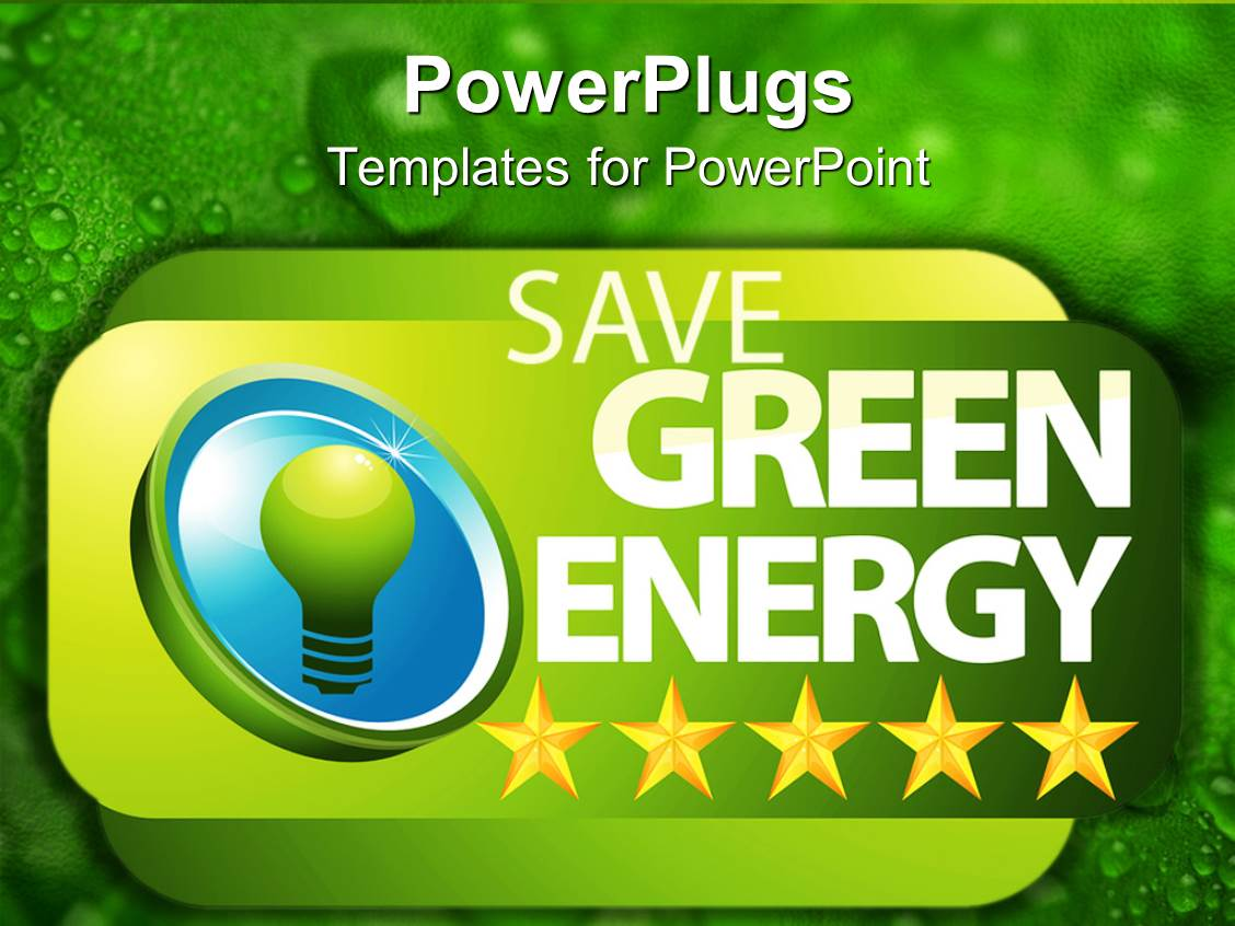 Powerpoint template green bulb with save green energy written in powerpoint template displaying green bulb with save green energy written in green background toneelgroepblik Gallery