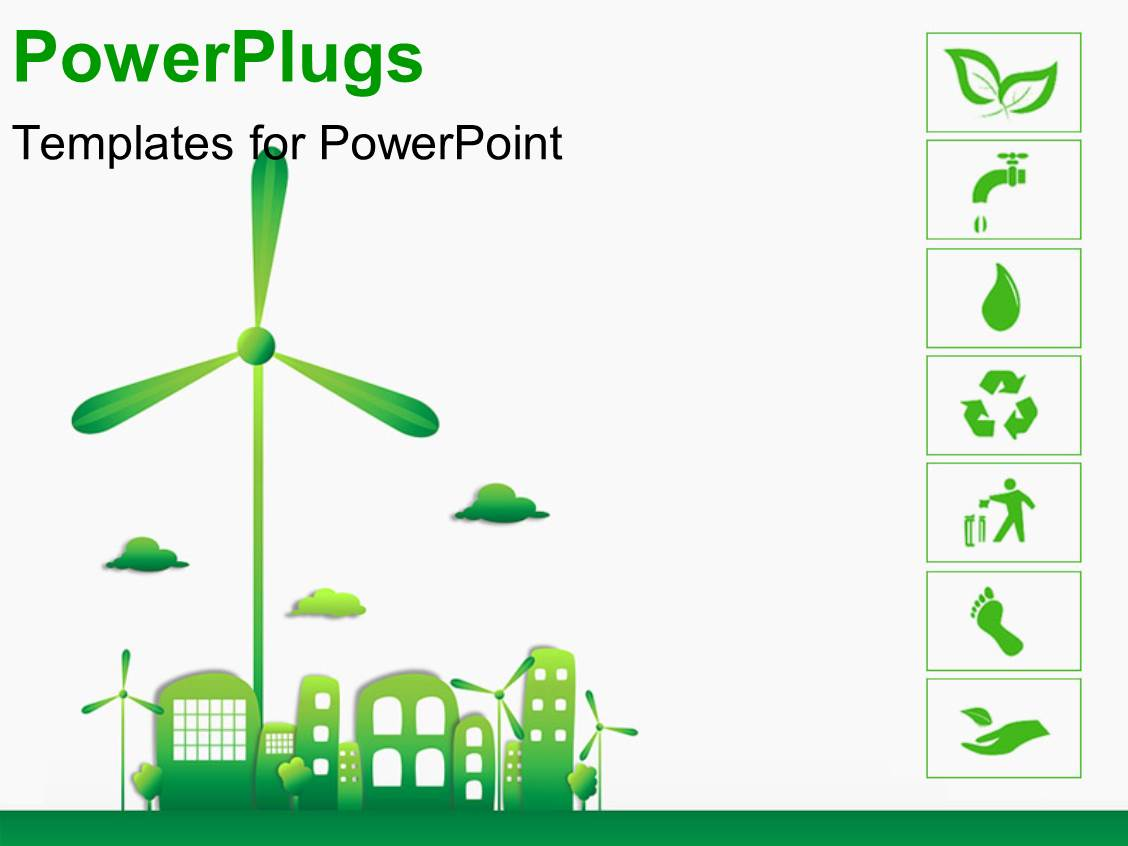 Energy powerpoint template green energy powerpoint template slidesbase powerpoint template green and ecology city with various energy powerpoint template toneelgroepblik Gallery