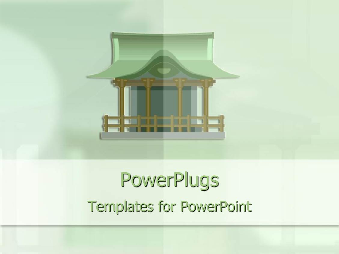 Japanese powerpoint templates crystalgraphics i love this ppt enhanced with green japanese house on a light green hue background template size toneelgroepblik Gallery