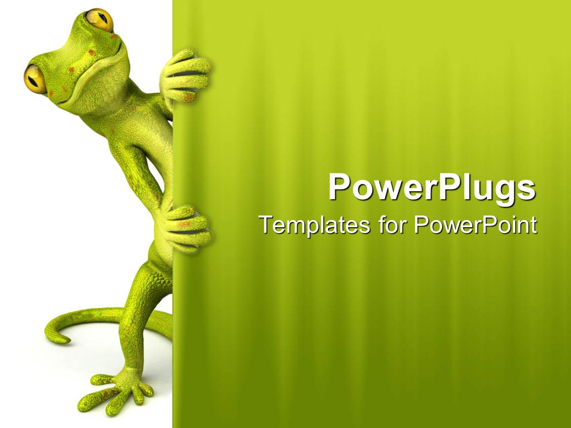 Powerpoint templates free download zoology images powerpoint zoology powerpoint templates crystalgraphics powerplugs powerpoint template with green lizard peaking through curtain white and green toneelgroepblik Images