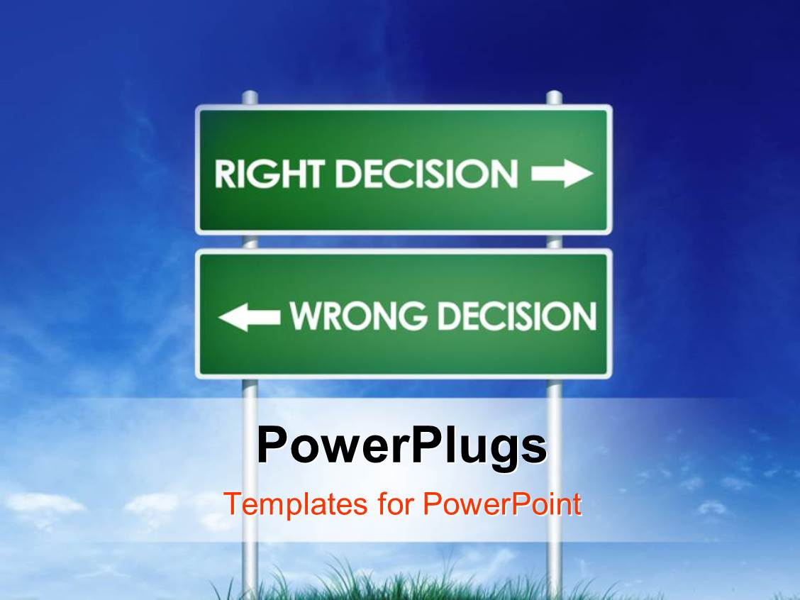 price is right powerpoint template - powerpoint template green signpost with directions