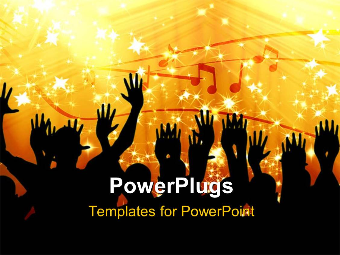 powerpoint template lots of people dancing in a music party, Powerpoint
