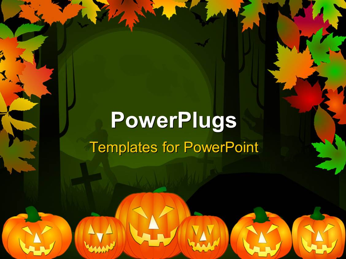 powerpoint template halloween theme background in