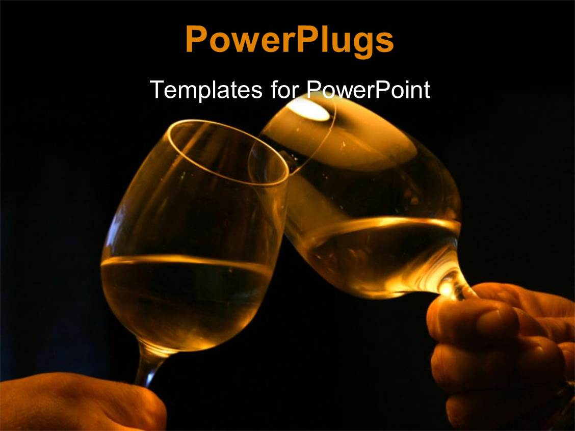 Gay powerpoint templates crystalgraphics audience pleasing template featuring hands holding wine glasses over black background with glasses clinging toneelgroepblik Gallery