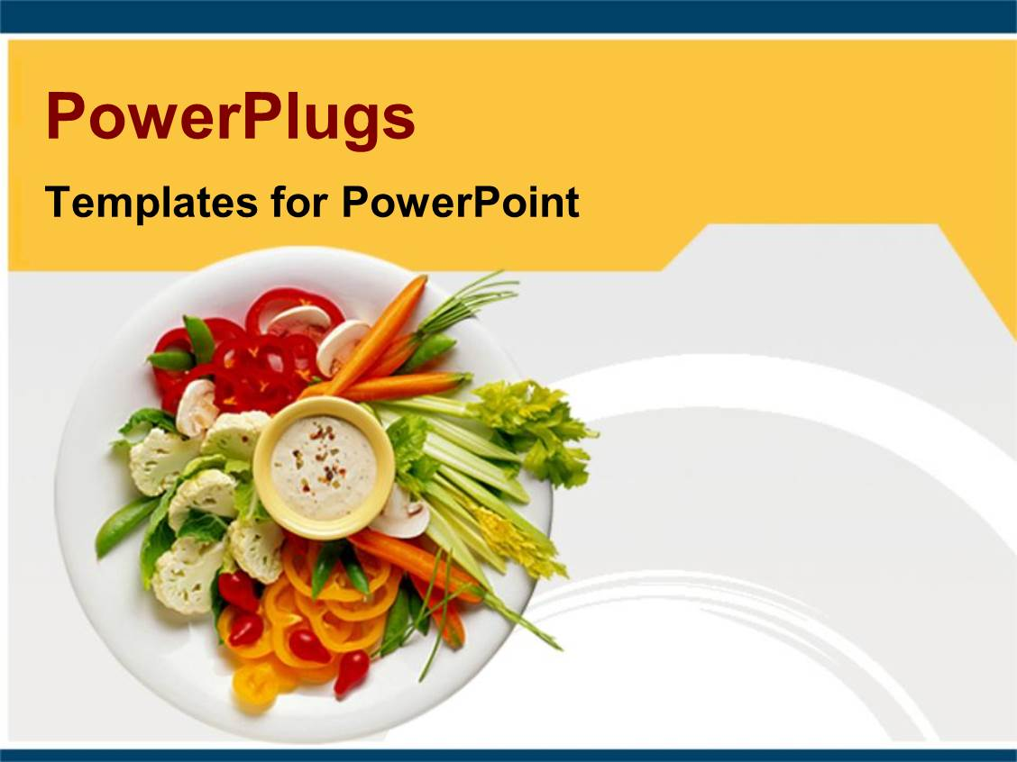 powerpoint template healthy diet healthy food on white