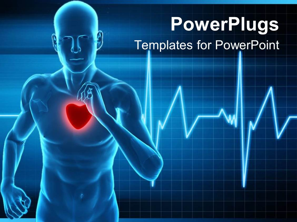 cardiovascular powerpoint template free - powerpoint template heart rate monitor live a healthy