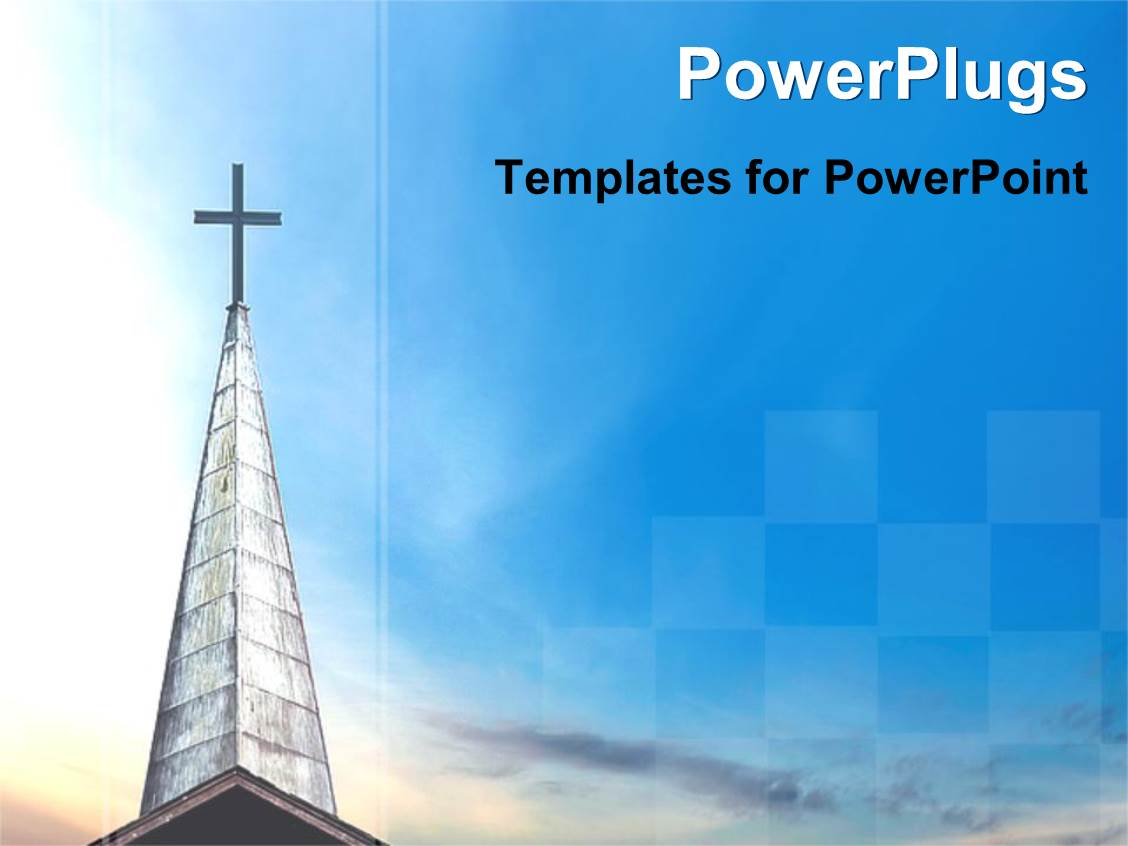 PowerPoint Template: a high church building with a cross