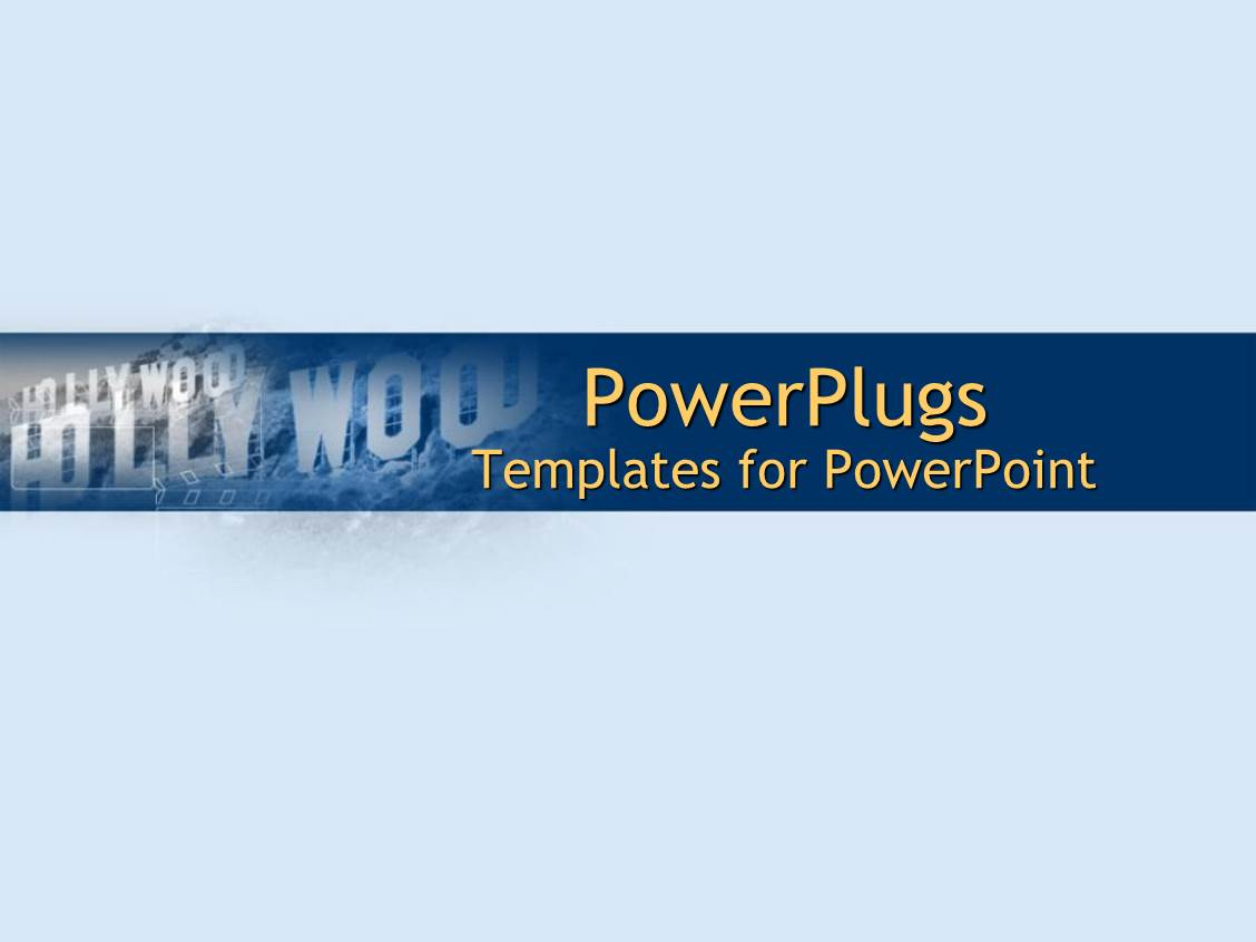 powerpoint template the hollywood sign with bluish