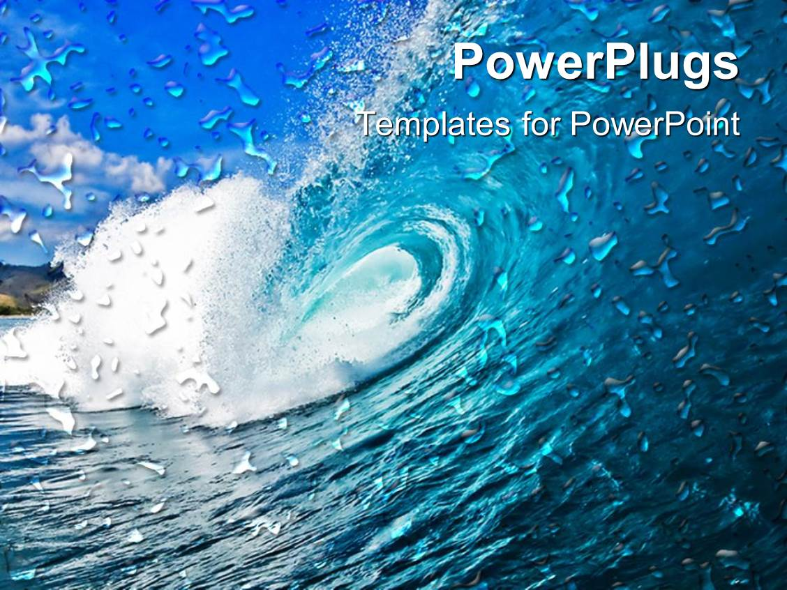 Powerpoint template huge blue ocean wave with blue sky 30872 powerpoint template displaying huge blue ocean wave with blue sky pronofoot35fo Choice Image