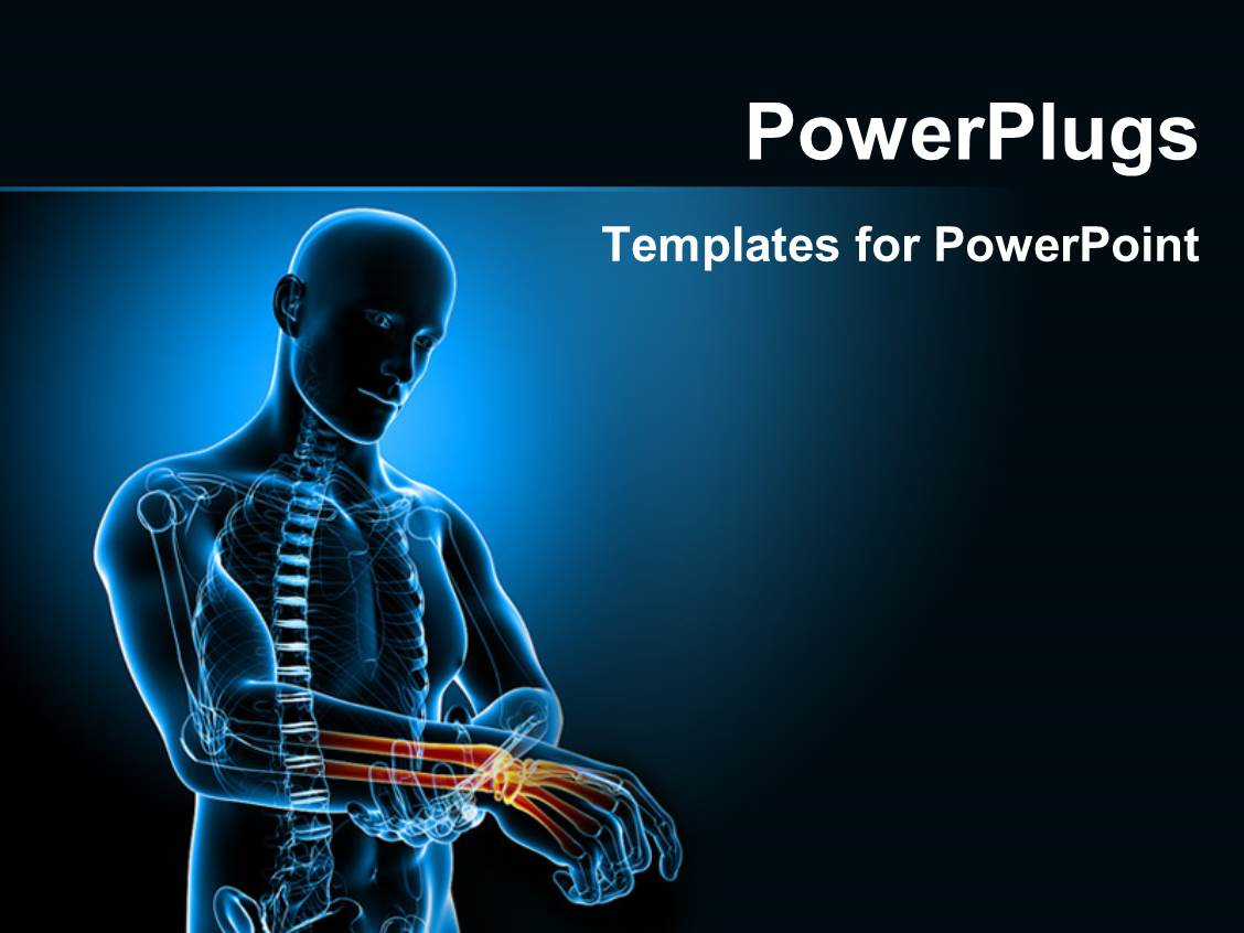 anatomy ppt templates free download - powerpoint template human anatomy depicting pain in wrist