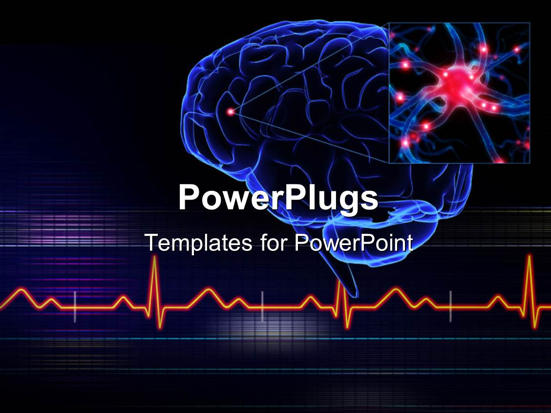 powerpoint template human brain with a highlighted small