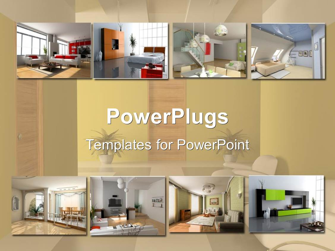 powerpoint template interior design apartment modules