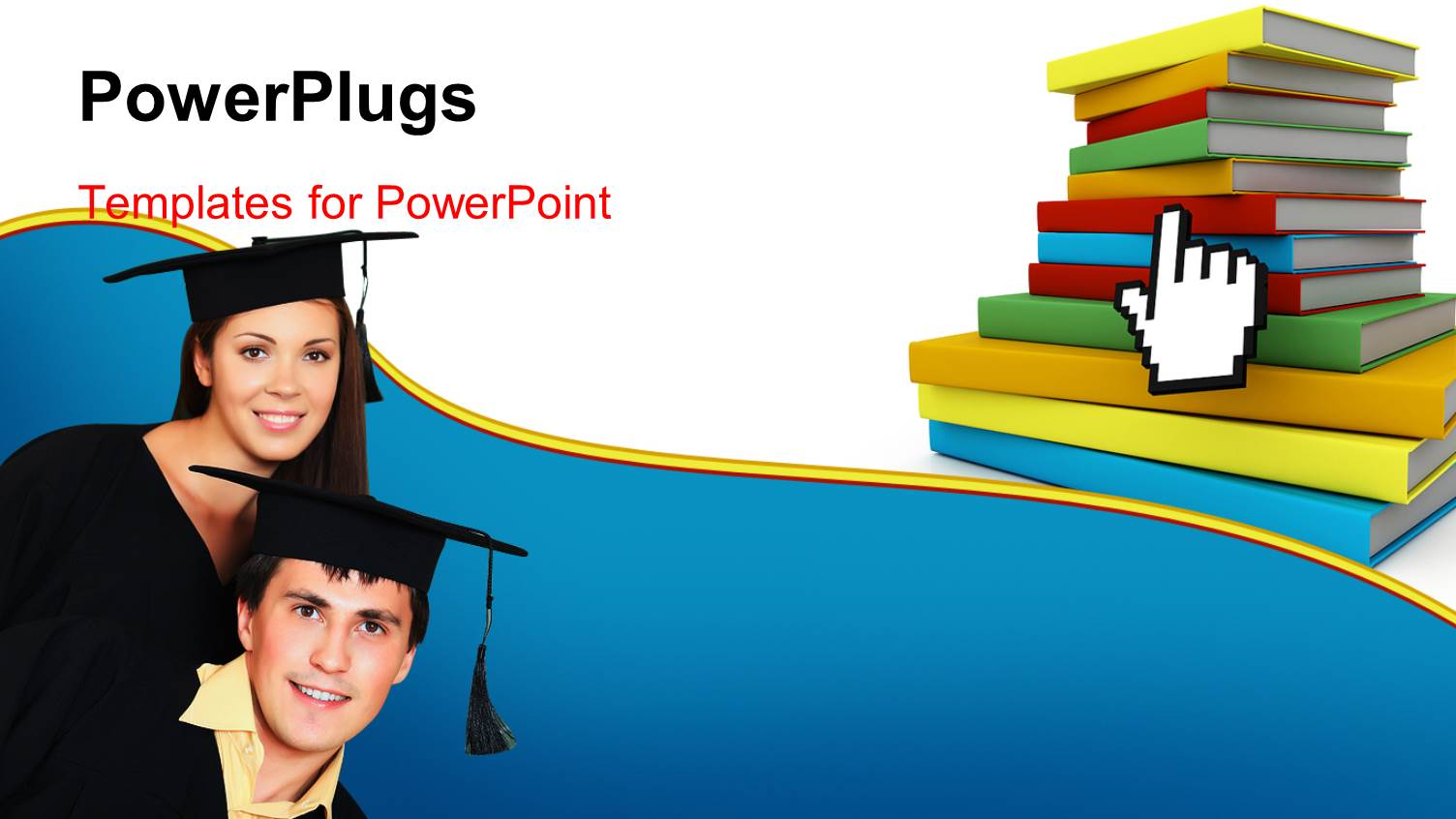 Powerpoint Template E Library Depiction With Mouse