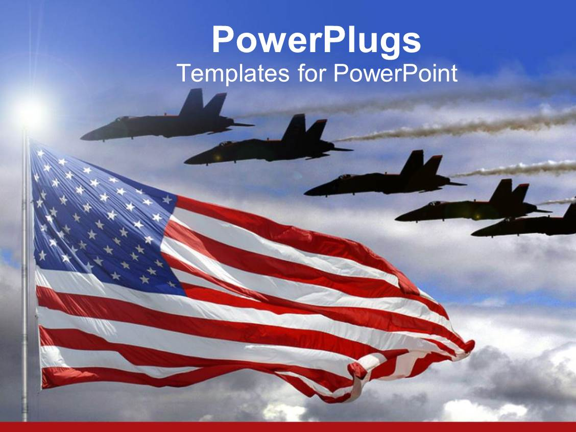 Aviation powerpoint templates gallery templates example free aviation powerpoint templates crystalgraphics slide deck having jet fighters flying over american flag alramifo gallery toneelgroepblik Gallery