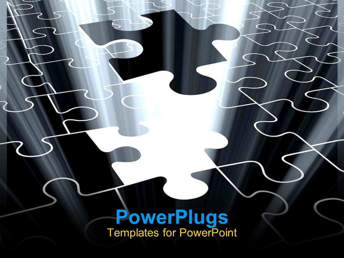 Powerpoint template jigsaw puzzle piece falling with light glow powerpoint template displaying jigsaw puzzle piece falling with light glow from missing spot toneelgroepblik Choice Image