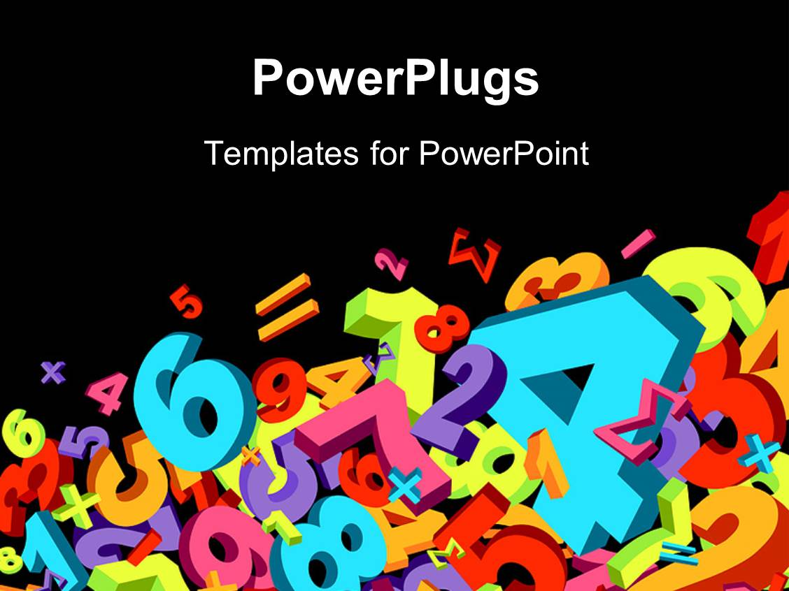 Powerpoint template jumble of numbers and math signs in for Math powerpoint templates free download