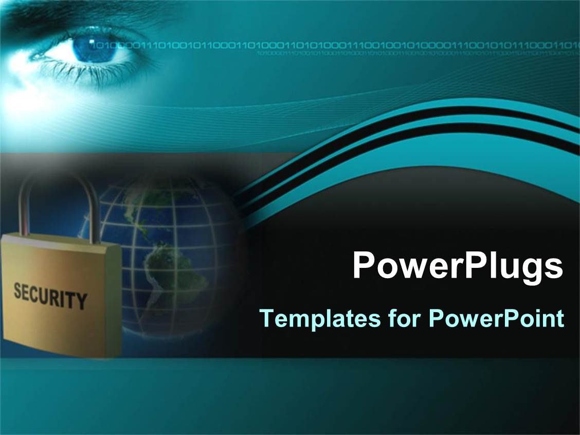 Powerpoint template keep yourself secure on internet with for Power plugs powerpoint templates