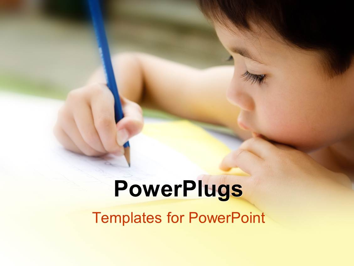 Powerpoint template kid working in the classroom with blurr powerpoint template displaying kid working in the classroom with blurr background toneelgroepblik Choice Image