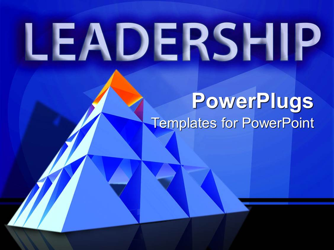 Leadership powerpoint templates crystalgraphics design with leadership theme with red triangle on top of pyramid management leader template size toneelgroepblik Images