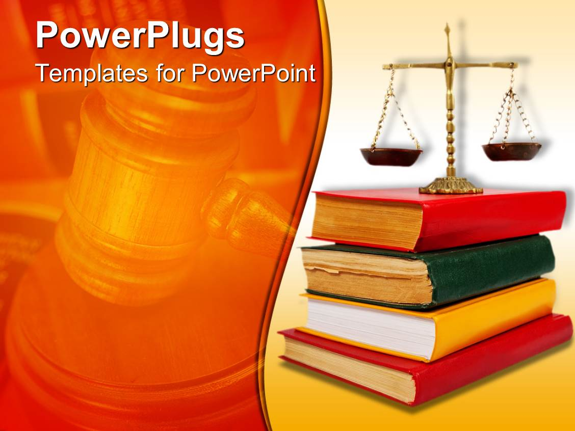 powerpoint template legal theme with scales of justice