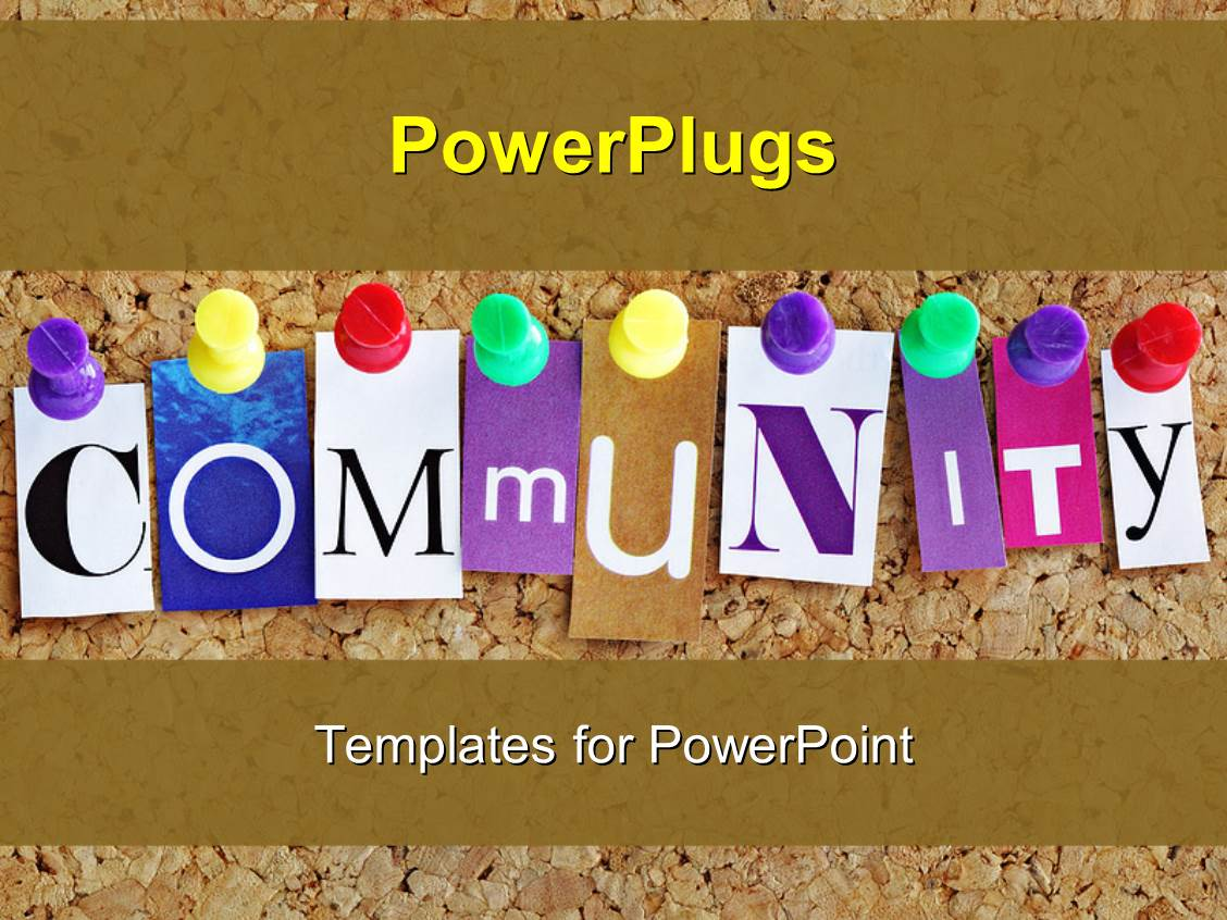 letters for bulletin boards templates - powerpoint template letters spelling community in various