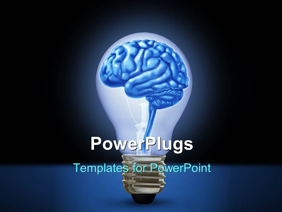 Powerpoint template light bulb with brain depicting idea powerpoint template displaying light bulb with brain depicting idea innovation and intelligence background toneelgroepblik Image collections