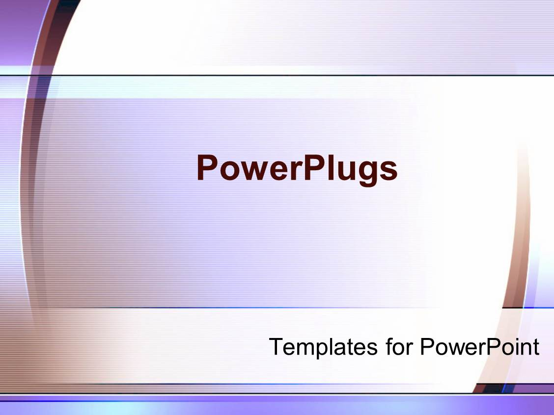 Power Plugs Powerpoint Templates Powerpoint Template Light Purple Abstract Simple Graphics