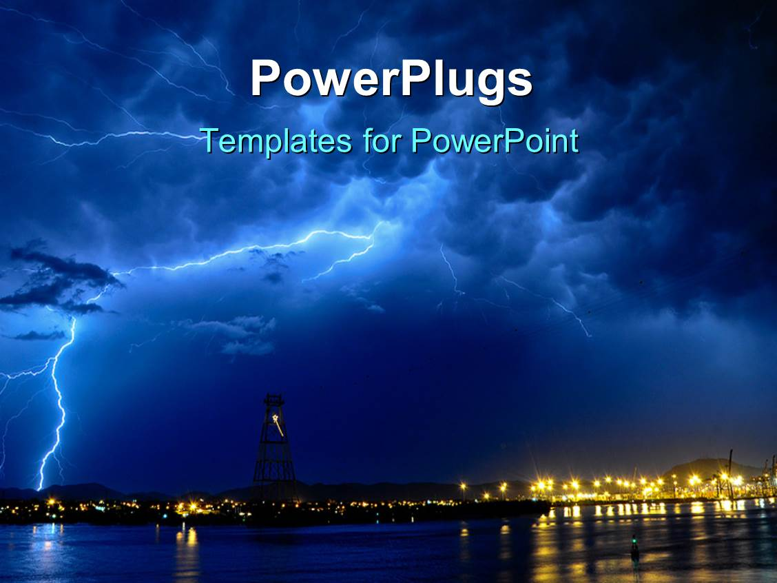 The most popular dark blue powerpoint templates backgrounds amazing slides consisting of lightning storm at night over seaside town template size toneelgroepblik Gallery