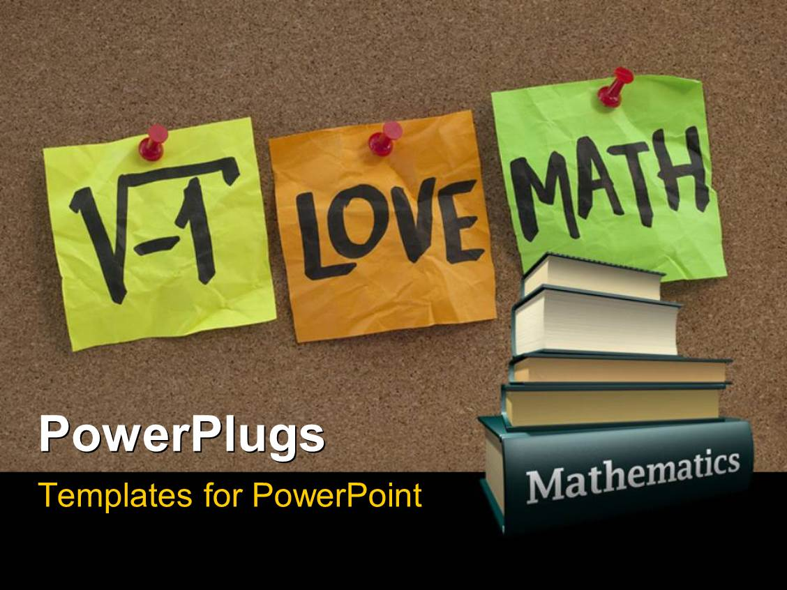 Powerpoint template i love math humorous concept with for Powerpoint templates mathematics free download