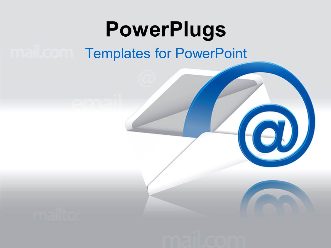 Powerpoint template a mail with grayish background and for Power plugs powerpoint templates