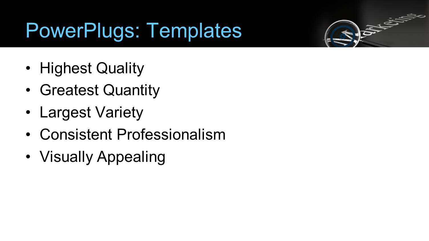 PowerPoint Template A Blackish Background With A