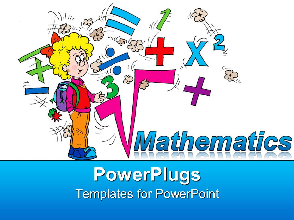 Powerpoint template math related symbols and the word for Math powerpoint templates free download