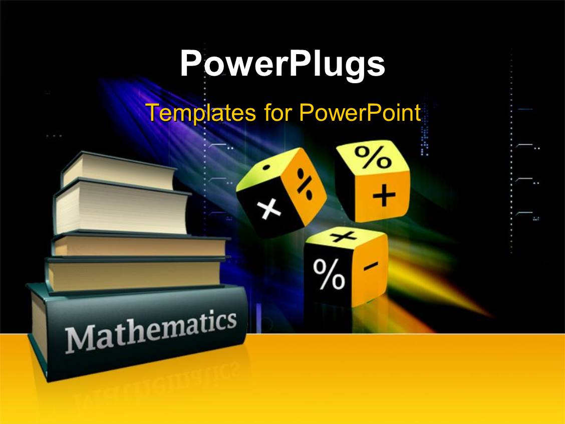 math powerpoint templates free download powerpoint template mathematical books and three cubes