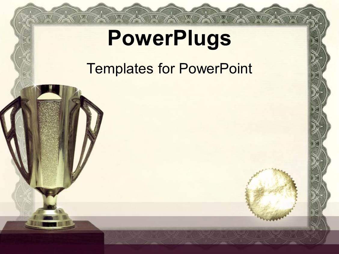 Powerpoint template award with filmstrip 12039 slide set featuring medals certificates awarding achievements and successful on neutral background yadclub Gallery