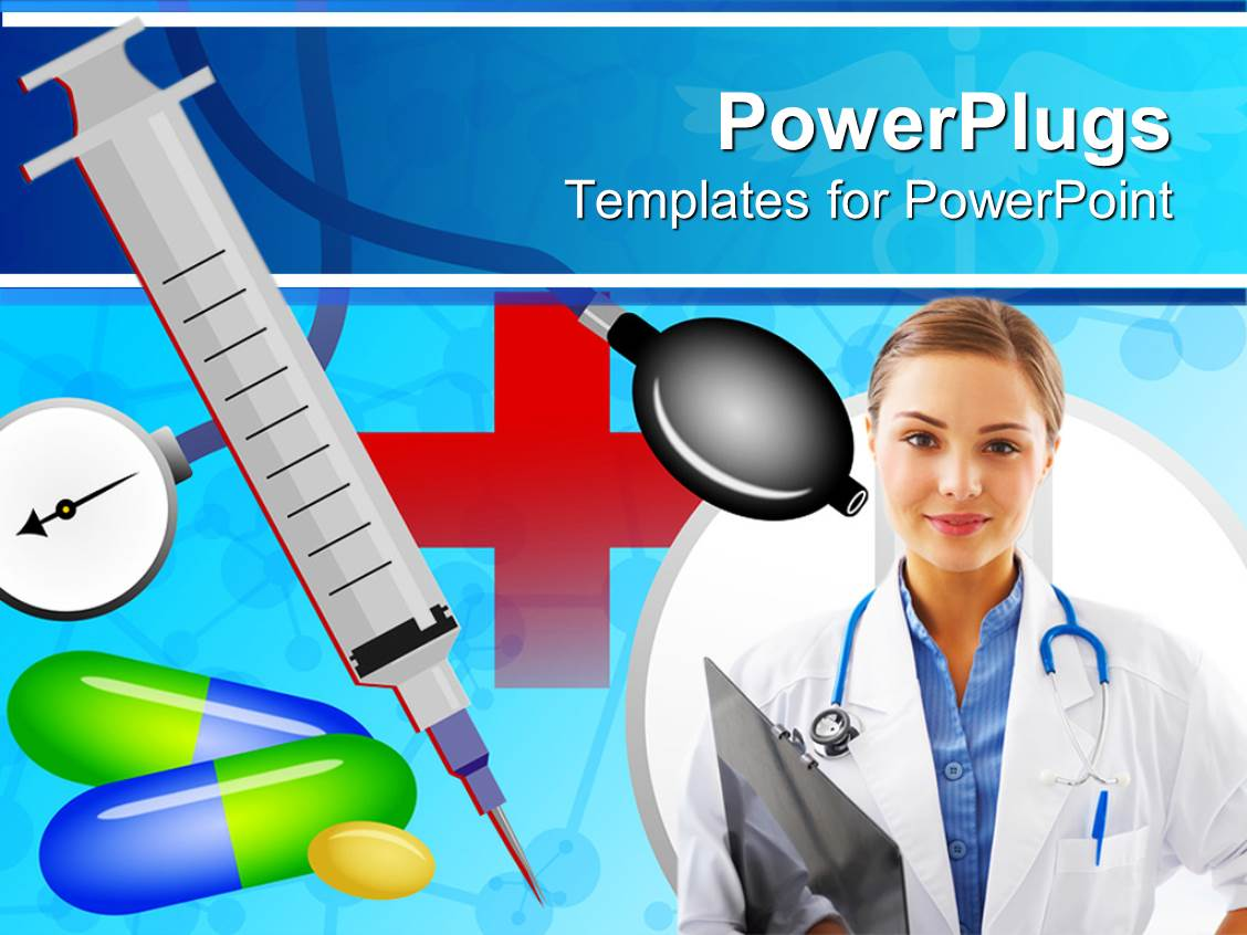 Images of doctor with stethoscope ppt fan powerpoint template medical theme with doctor nurse with alramifo Gallery