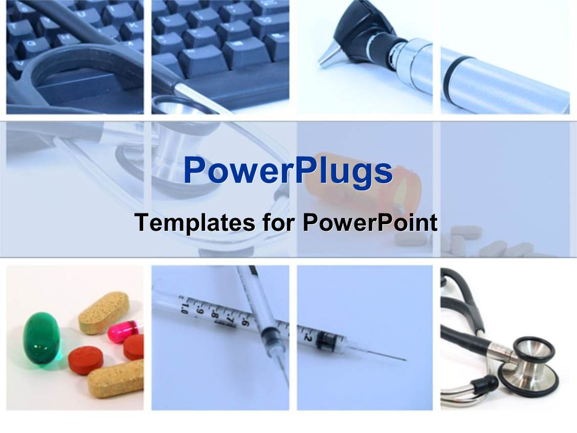 Powerpoint template medical tools used in a hospital for for Power plugs powerpoint templates