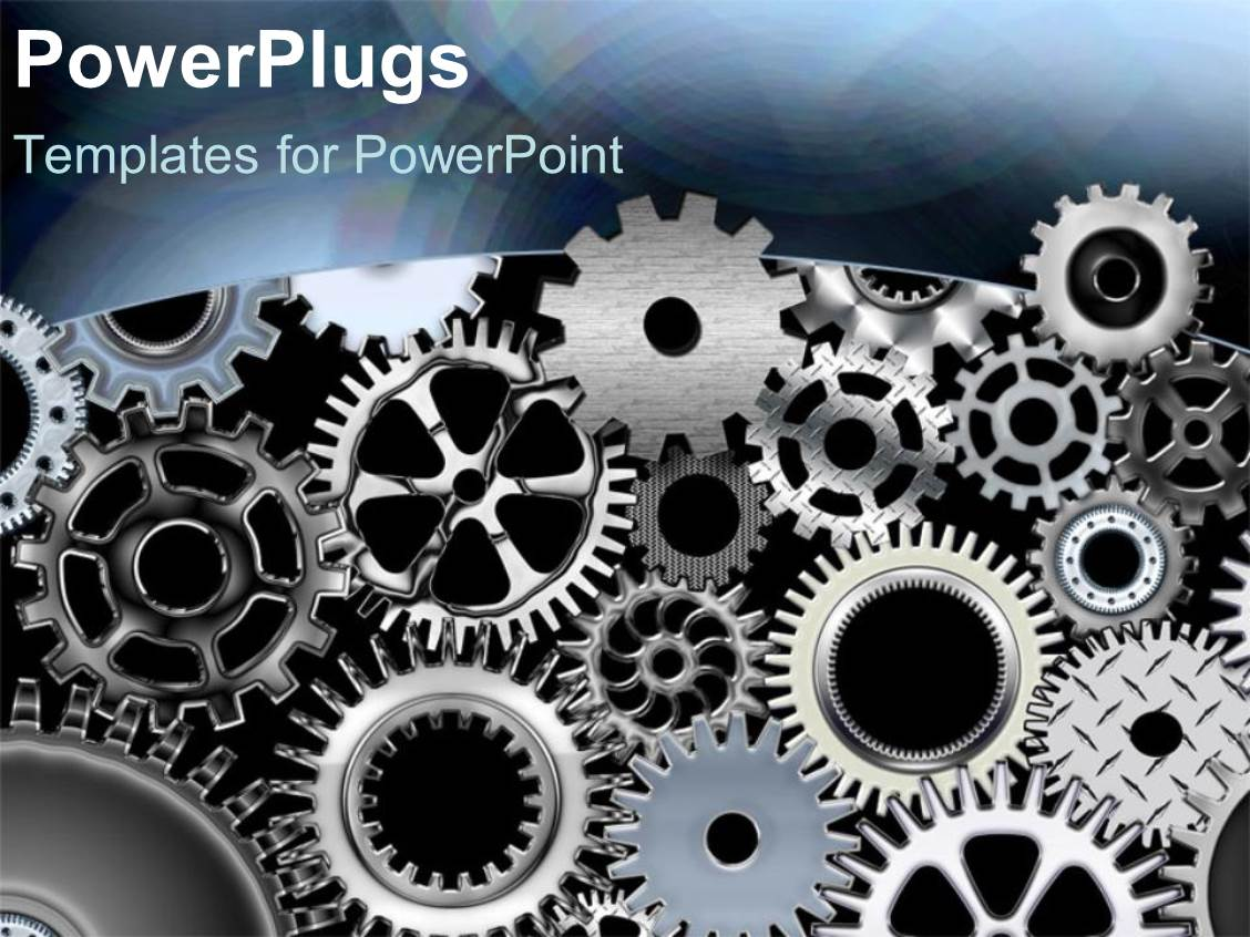 gear powerpoint templates | crystalgraphics, Modern powerpoint