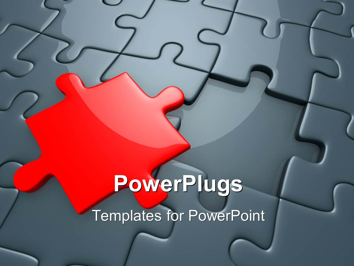 Powerpoint template missing red piece of grey jigsaw puzzle with powerpoint template displaying missing red piece of grey jigsaw puzzle with spotlight toneelgroepblik Choice Image