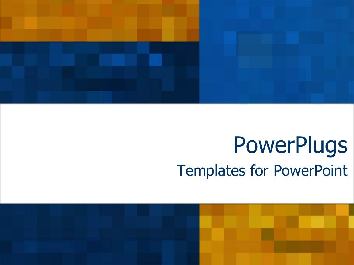 powerpoint template: mosaic madness on rich blue and orange, Modern powerpoint
