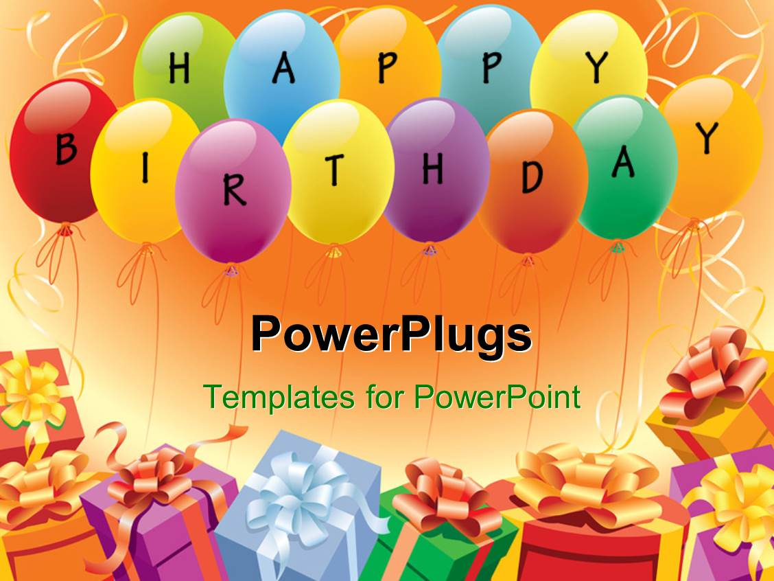 happy birthday powerpoint templates | crystalgraphics, Powerpoint templates