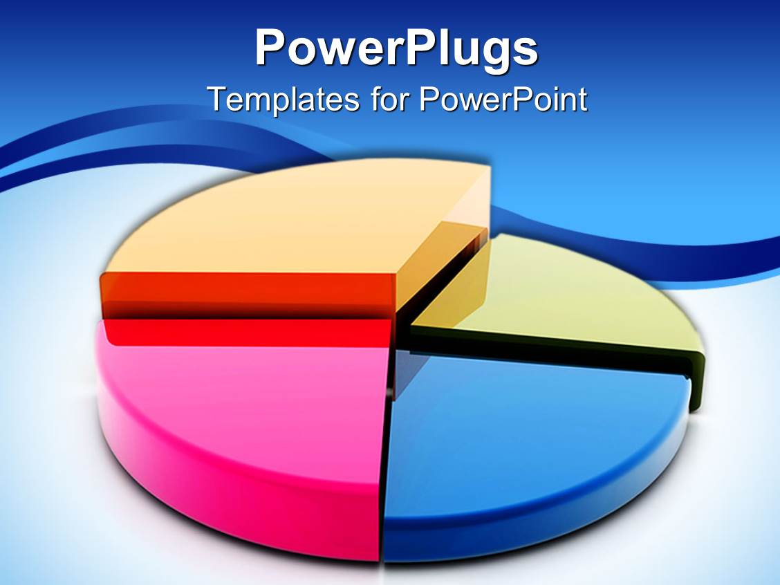 powerpoint template: man presenting pie chart on screen at, Powerpoint templates